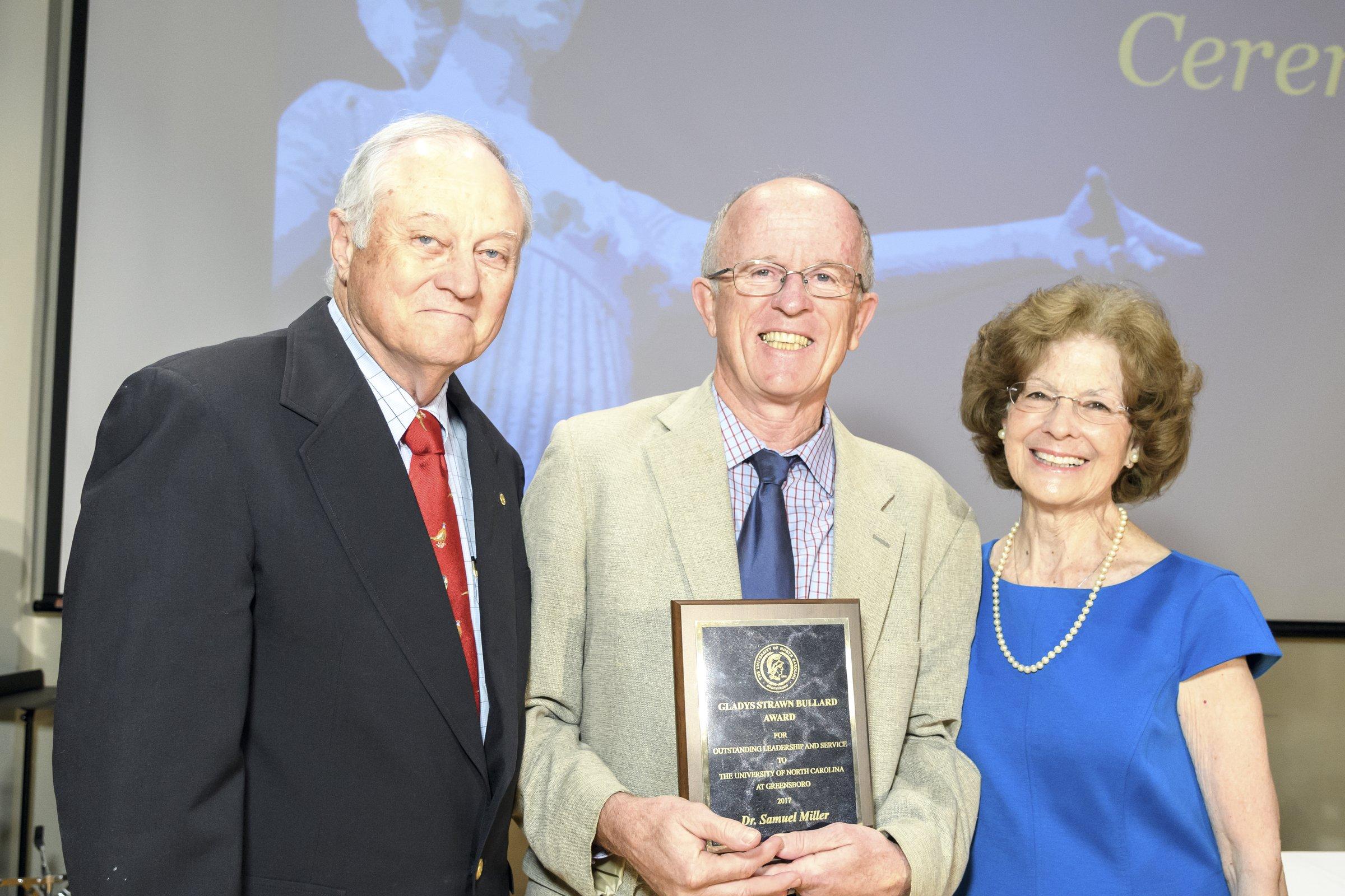 Photo of male award recipient
