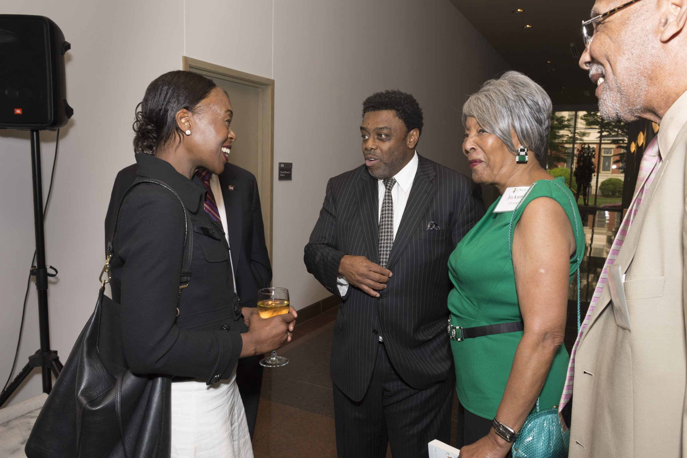 Chancellor Gilliam with JoAnne Smart Drane and Margot Shetterly