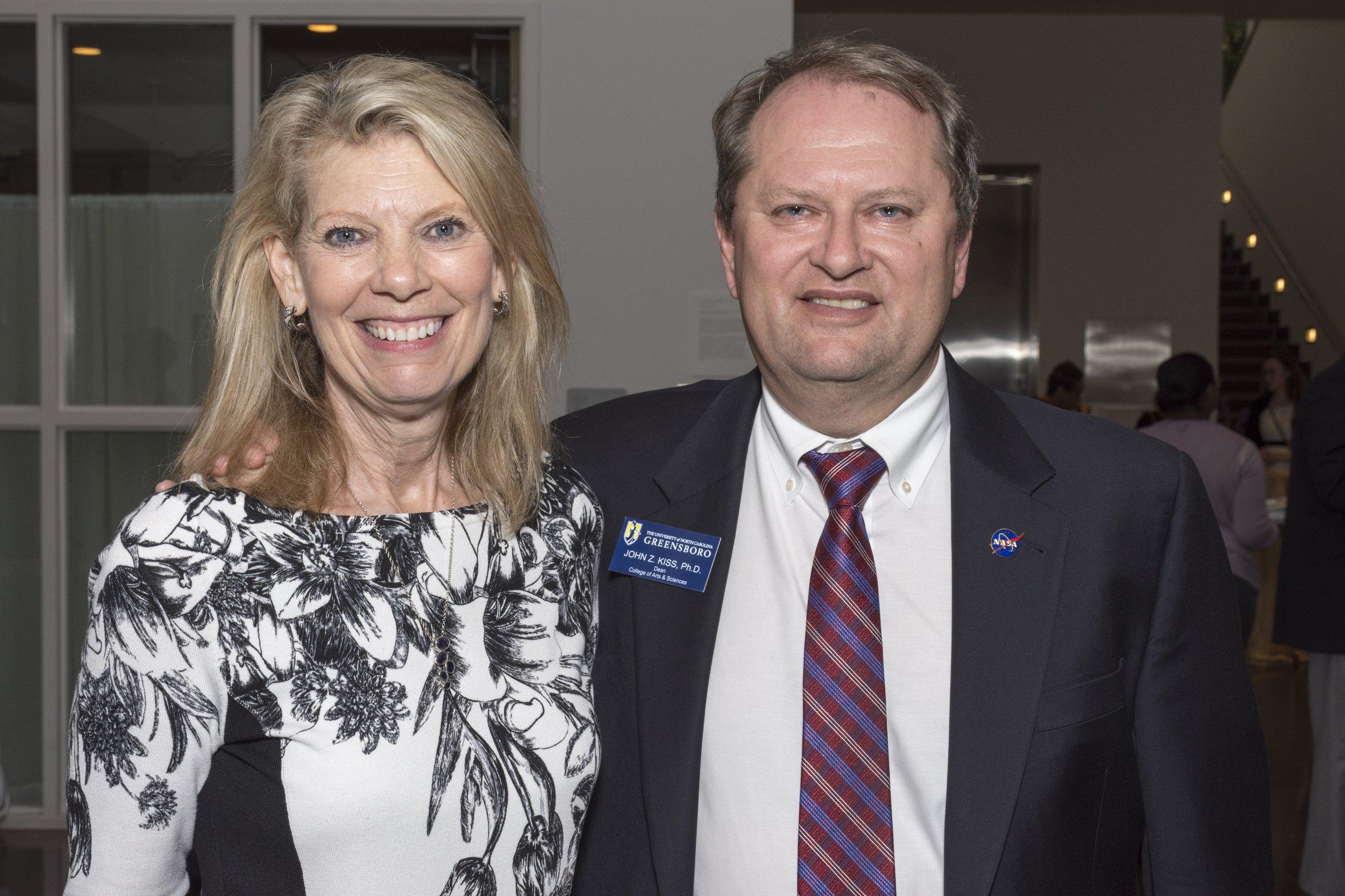 Dr. Terri Shelton with Dean Kiss